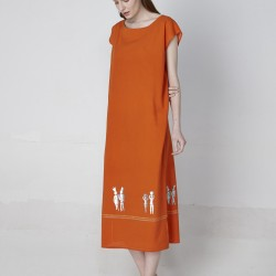 KAFTAN LONG - ORANGE