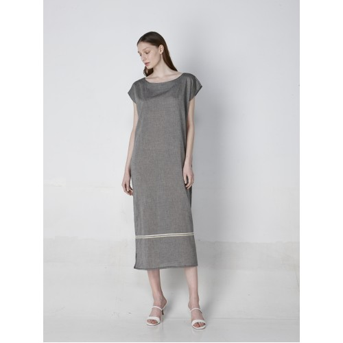 GRAPE KAFTAN LONG GREY